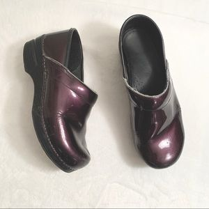 DANSKO | Purple Metallic Clogs Size 38